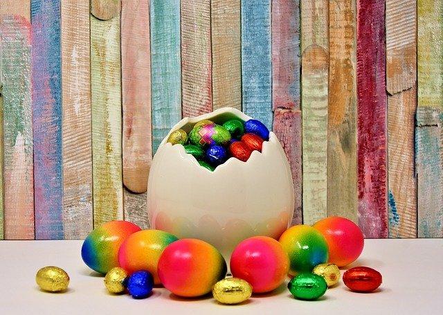 конфеты в подарок на Пасху